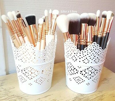 Make Up Brush Holder Pots/candle Holder Set Of 2 Free Delivery