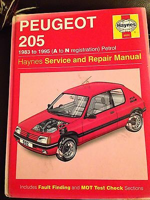 Haynes Peugeot 205 Service And Repair Manual Used