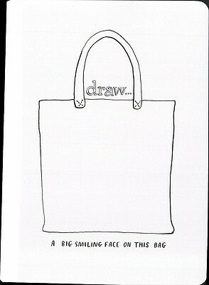 (16982 ) Colour It In Postcard - Fashion - Draw a Big Simling Face On This Bag
