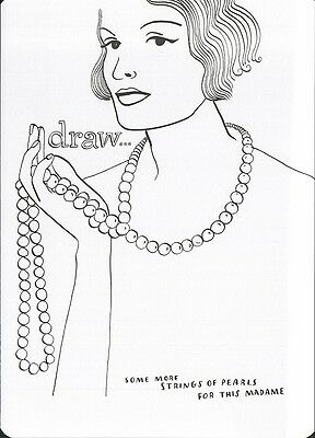 (16963 ) Colour It In Postcard - Fashion - Draw some more Strings of Pearls