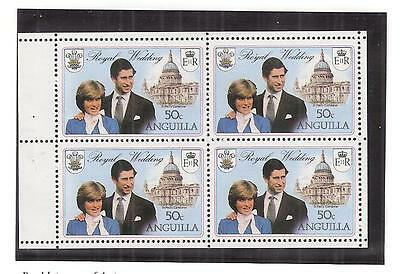 (53211) Princess Diana Wedding - Anguilla Stamps Booklet Pane MNH 1981