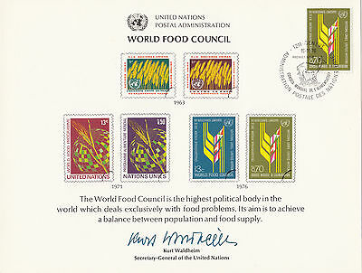 (32761) CLEARANCE United Nations FDC Souvenir World Food Council 1976