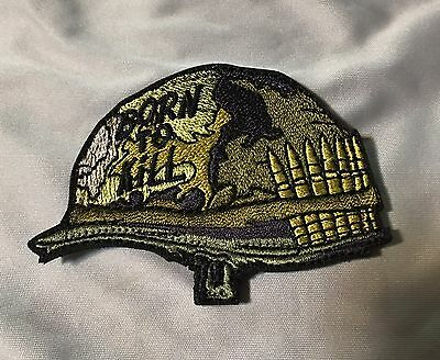 Green Born to Kill Patch Helmet Vietnam Full Metal Jacket US marines Morale War