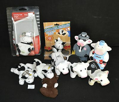 ThriftCHI ~ Cow Themed Plush Key Chains, Cow Stress Squeezers, Mooing Cow Toy +