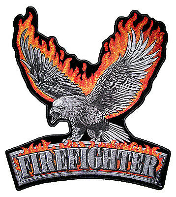 FLAMING PISTON Embroidered Bikers Patch 00133