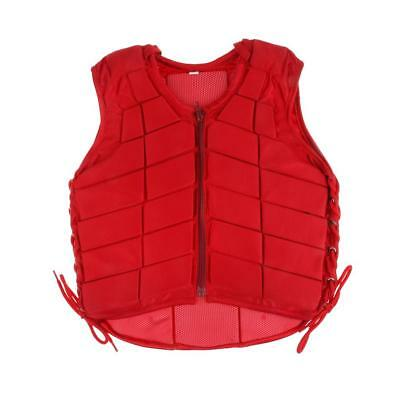 Kids Adult Safety Equestrian Eventing Protective Horse Riding Vest Red