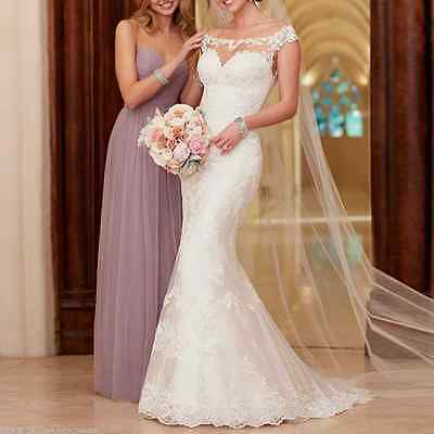 New white/ivory Lace Wedding Dress Bridal Gown size 4-6-8-10-12-14-16-18