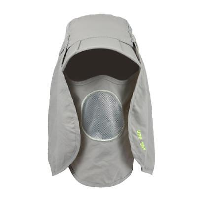 Outdoor Fishing Face Neck Mask Cover Sunshade Uv Protection Hat Sun Cap Grey