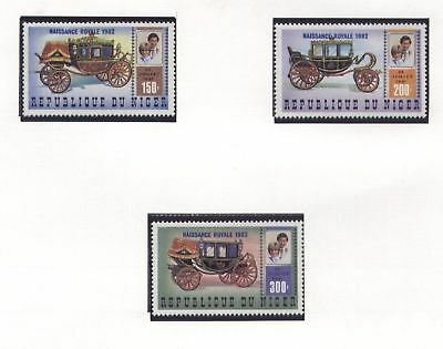 (12091) MNH Niger Royal Birth of William OVERPRINT