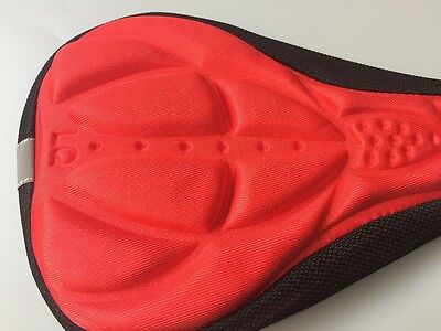 RED Cycling Bicycle Bike 3D Sponge Pad Seat Saddle Cover Soft Cushion by Air