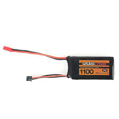 For RC Racing Quadcopter JST VOK Lipo Battery 2S 7.4V 1100mAh 25C Battery