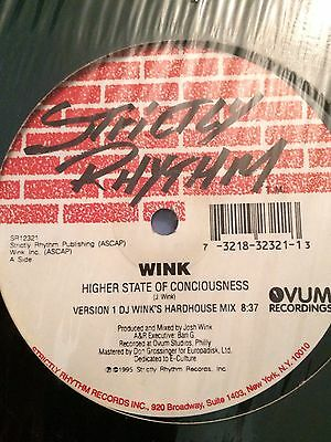 """Wink Higher State Of Consciousness 12"""" Strictly Rhythm 1995"""