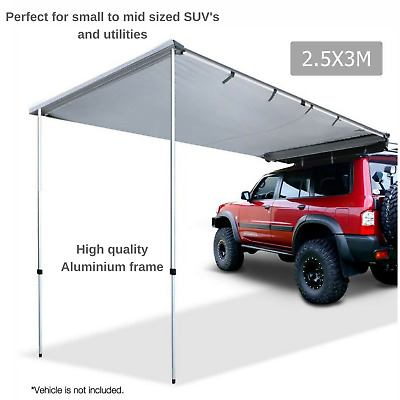 3M Camping Patio Shade Cover Extension Car Side Awning Picnic Beach Waterproof