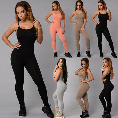 New Women Sleeveless  Playsuit Bodysuit Casual Bandage Bodycon Jumpsuit Romper