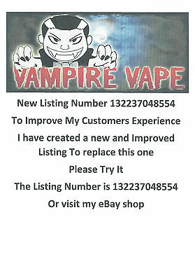Vampire Vape 4x10ml Lots of Flavours 0mg 6mg 12mg £12.99 inc Signed Delivery