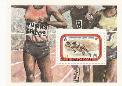 (22613) Turks and Caicos - Canada Commonwealth Games - Minisheet MNH