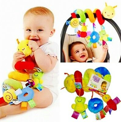 Taggies Baby Kid Child Crib Stroller Playmat Rattle Squeaky Crinkle Spiral Toys