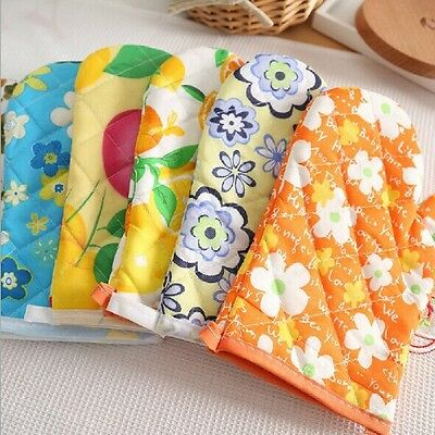 Kitchen Cooking Microwave Oven Cotton Mitt Insulated Non-slip Gloves Baking Tool