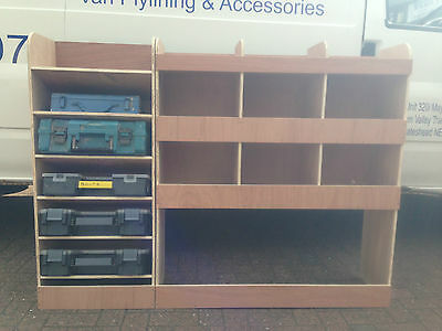 2014 Ford Transit Connect LWB Driver Side Drill / Service Case Plywood Racking