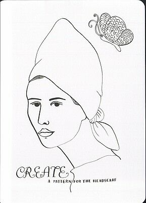 (16975 ) Colour It In Postcard - Fashion - A Pattern for the Headscraft