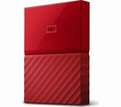 WD My Passport Portable Hard Drive 1TB Red Backup software included