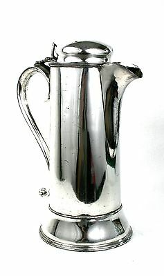 Antique 19th C. Silver Plated Large Lidded Tankard Water Wine Jug Ewer Pitcher