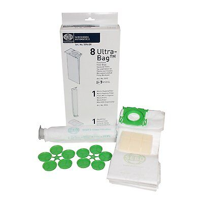 Genuine Sebo X1 X4 Extra X1.1 New Ultra Service Kit Dust Bags & 2 Filters 5094Er