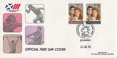 (30961) GB CLEARANCE FDC Prince Andrew Wedding Commonwealth Games MAC 22 Jul 86