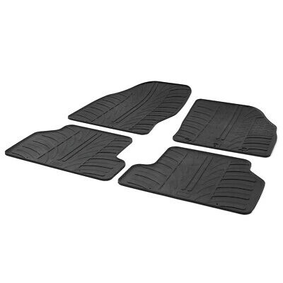 Ford Focus Mk.2 2005 - 2011 Tailored Fit Rubber Black Moulded Car Floor Mats Set