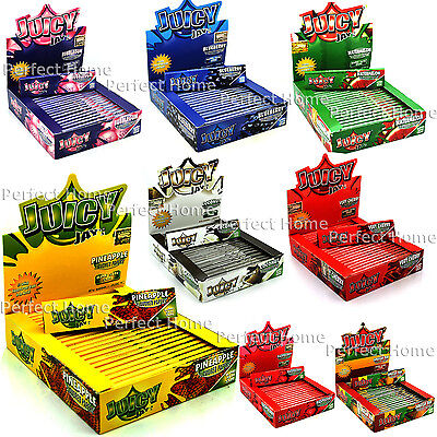 Juicy Jay's King Size Slim Smoking Cigarette Rolling Papers *10 Flavour*