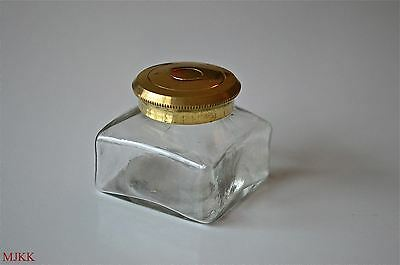 Antique replacement inkwell screw top writing box ink well pot slope dip pen