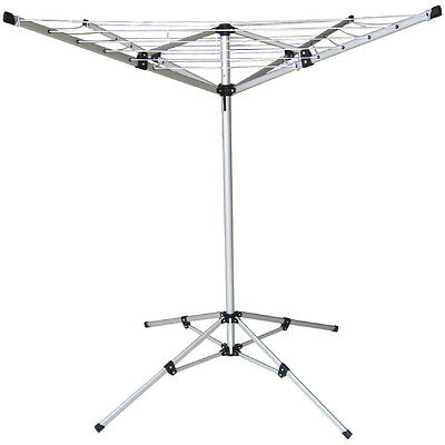 18M Clothes Airer Portable Rotary Washing Line 4 Arm Free Standing Multi Laundry