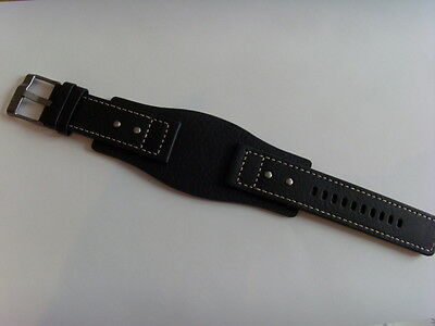 FOSSIL Original Ersatz Lederarmband JR9991 Uhrband watch strap schwarz black