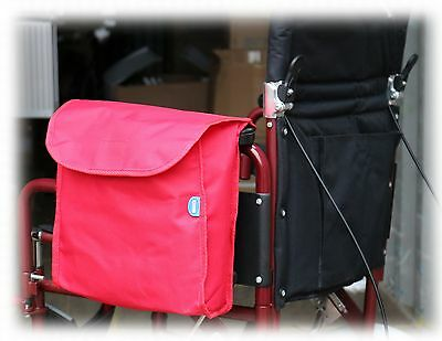 Wheelchair / Scooter - RED SIDE SACK BAG - Holdall E006