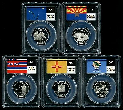 2008 S Silver State Quarter 5 Coin Proof Set PCGS PR69 DCAM 25C New Holders!