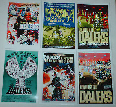 Dr Doctor Who Glossy Vintage Movie Posters Job Lot Set 10  6 X 4 Glossy Cards