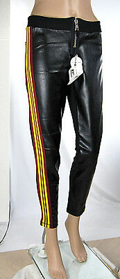 Pantaloni Donna Stile Sport MET Ecopelle Made in Italy C993 Tg XS S L