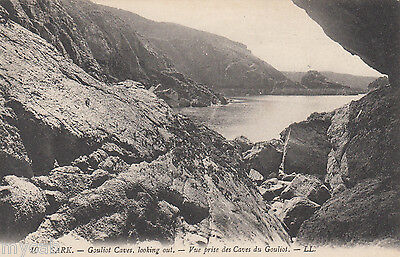 Postcard Sark near Guernsey Channel Islands view of Gouliot Caves by Levy LL 10
