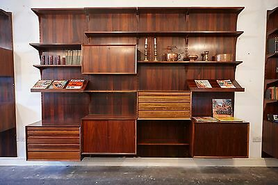 Shelving System Cado by Poul Cadovius 1960s Wall Unit   rosewood Regal System
