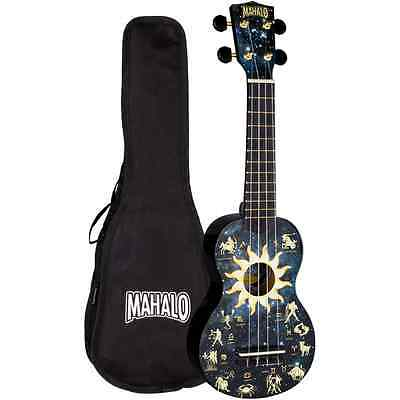 Mahalo Constellation Art Design Ukulele with Bag