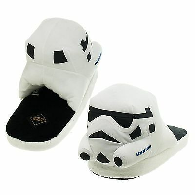 Star Wars Size Large Storm Trooper Adult Slippers Helmet Plush Character SOIL