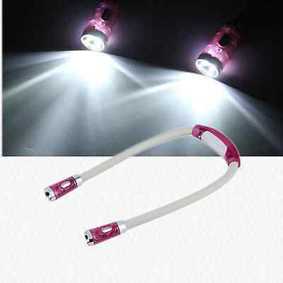 Flexible Adjustable 4 Modes LED Handsfree Reading Book Night Neck Hug Light ZX