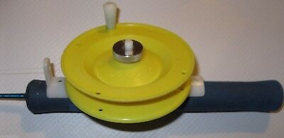 Schooley's De-Ma-Reel Ice Fishing Reel - Yellow