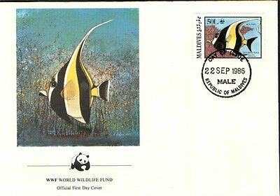 (70262) FDC Maldives - Sea Fish - 1986
