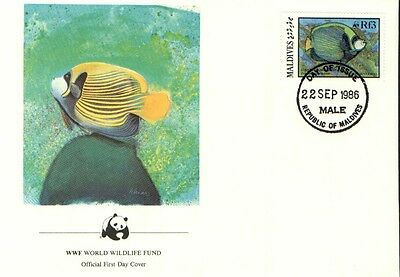 (70264) FDC Maldives - Sea Fish - 1986