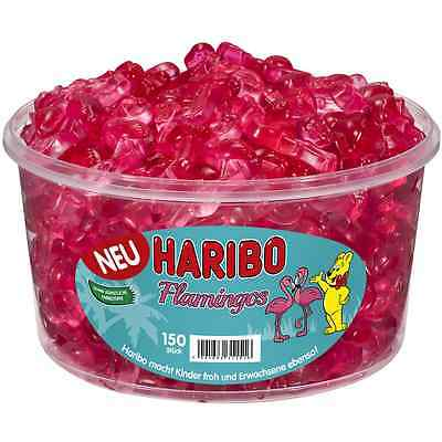 """1 Container x HARIBO """"Flamingos"""" 1,2kg / 2.65lbs  **NEW 2016**"""