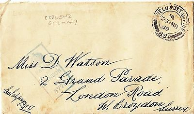 (29949) GB Cover 23 March 1919 Field Post Office and 3 page letter with Censor