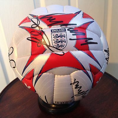 Signed England Squad Players Foot Ball 2002 - 6