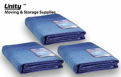 "3 Pack Heavy duty Moving blankets Professional protection pads 72x80"" #6256"