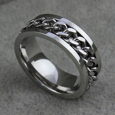 316L Eternity Titanium Stainless Steel Men Chain Ring For Women and Men Fashion